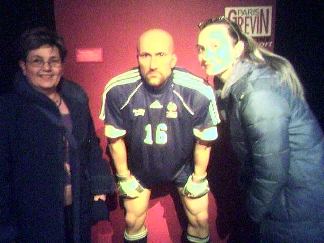 Barthez au musée Grévin avec mamie Françoise et tatie Laure